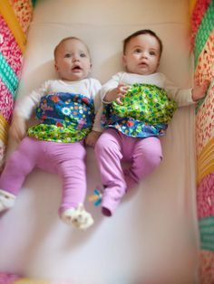 Babies Boheme and Reverie fit right into their colorful surroundings.