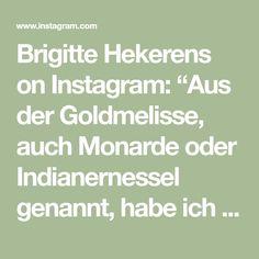 """Brigitte Hekerens on Instagram: """"Aus der Goldmelisse, auch Monarde oder Indianernessel genannt, habe ich eine köstliche Limonade gemacht. Die enthaltenen Anthocyane färben…"""" Gold, Instagram, Lemonade, Foods, Yellow"""
