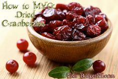 Budget101.com - - Dehydrating Cranberries | How to Dry Cranberries