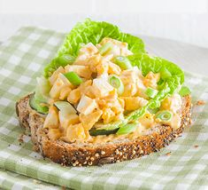 Curried egg mayo sandwich topper