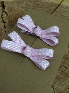 Lavendar and White Polka Dot Hair Bow Set/ Alligator Clips by letterbdesigns on Etsy https://www.etsy.com/listing/219960364/lavendar-and-white-polka-dot-hair-bow