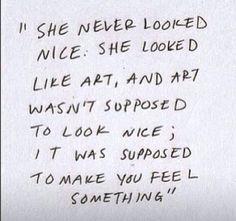 Like art.