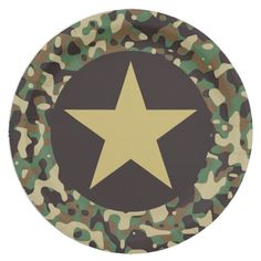 Shop GI Camouflage Soldier Joe Military Party Plates created by Ohhhhilovethat. Camouflage Birthday Party, Army Birthday Parties, Army's Birthday, Army Party Decorations, Party Centerpieces, Party Plates, Party Tableware, Soldier Party, Army Decor