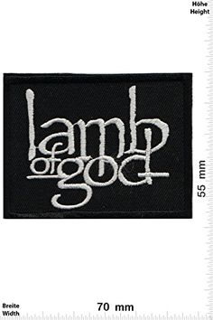 """Patches - Lamb of God -Heavy-Metal-Band - Music - Iron on Patch - Applique embroidery Écusson brodé Costume Cadeau- Give Away"""" #Patches #Lamb #Heavy #Metal #Band #Music #Iron #Patch #Applique #embroidery #Écusson #brodé #Costume #Cadeau #Give #Away"""""""