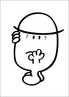 Mr. Men Tegninger til Farvelægning. Printbare Farvelægning for børn. Tegninger til udskriv og farve nº 38