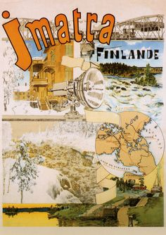 Come to Finland. Vintage World Maps, Finland