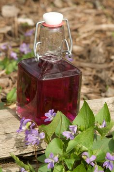 Violet Syrup.  I sometimes make violet jelly, turns out this same color.  So pretty and light tasting.