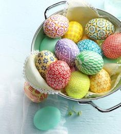 Blown Eggs Easter Centerpiece