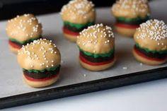 Burger Cake Bites