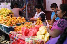 Melons at Oaxacan market