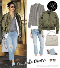 Priyanka Chopra casual streetstyle outfit ideas look for less Black Casual Outfits, Celebrity Casual Outfits, Smart Casual Outfit, Celebrity Look, Simple Outfits, Priyanka Chopra Wedding, Street Style 2018, Affordable Fashion, Types Of Fashion Styles