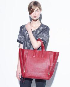 Pashli Large Zip Tote Bag, Red by 3.1 Phillip Lim at Neiman Marcus
