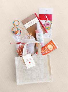 welcome bag for guests at the intimate Vegas destination wedding of Martha Stewart's niece | Martha Stewart Weddings Fall Real Weddings Issue Exclusive Sneak Peek on Oh Lovely Day