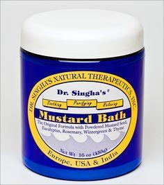 Dr. Singha's Mustard Bath: looooooooove this stuff, makes me feel so good! Detox at bedtime.