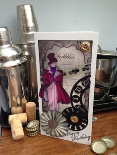 steam-punk card's for men