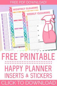 Student Planner Printable, Printable Planner Stickers, Free Printables, Printable Budget, Free Organizing Printables, Free Daily Planner Printables, Free Planner Pages, Planner Tabs, Planner Inserts
