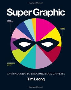 Super Graphic by Tim Leong - A visual guide to the comic book universe Infographic, Charts, Comic