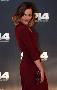 Stunning: Victoria Pendleton was the best-dressed in a beautiful burgundy dress which ooze...