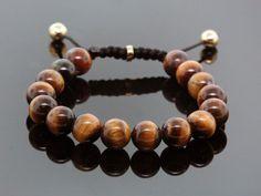 Moda caliente de la cuerda de Shamballa joyería hechos a mano alta calidad del ojo del tigre con cuentas pulsera de Shamballa para hombre y mujeres el mejor regalo(China (Mainland))