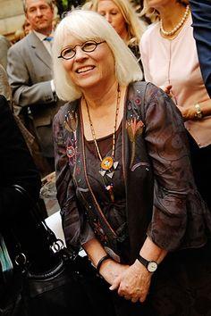 Gudrun Sjoden, designer of fun Swedish clothing and homegoods.