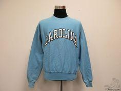 North Carolina Tar Heels Crewneck Sweatshirt sz M Medium SEWN UNC Jordan NCAA #SteveBarrys #NorthCarolinaTarHeels
