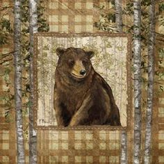 Paul Brent Stretched Canvas Art - Lodge Portrait II - Small 12 x 12 inch Wall Art Decor Size.