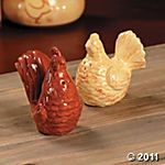roosters as salt and pepper shakers! Must have!