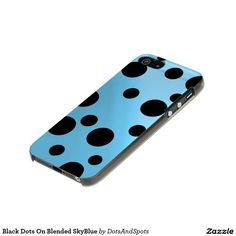 Black Dots On Blended SkyBlue Incipio Feather® Shine iPhone 5 Case