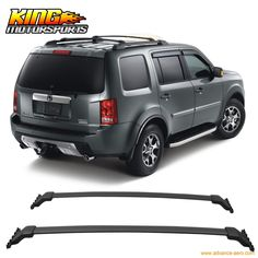 63.64$ Buy now - http://alis44.worldwells.pw/go.php?t=32698383237 - For 2009-2015 Honda Pilot OE Style Black Top Roof Rack Cross Bar Sports Mounting Kit 63.64$