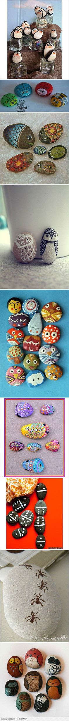 R is for ROCK.PEBBLE ART or ROCK ART - Great and very inexpensive activity for kids - (Okay - these were obviously done by adults so I admit I'm going to join in the fun!) - Fun and Creative Rock Crafts, Crafts To Do, Crafts For Kids, Arts And Crafts, Stone Crafts, Beach Crafts, Pebble Painting, Pebble Art, Stone Painting