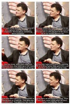 They gave him two hearts -- full Moffat quote