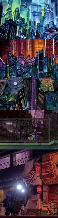 Screen stills from Akira.
