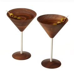 LOVE these Wooden Martini Glasses | UncommonGoods