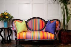 rainbow antique couch