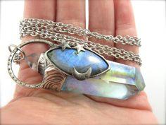 the blue star  dumortierite blue labradorite by callistojewelry