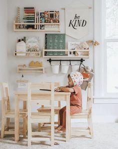 Darling Playroom Design, Playroom Decor, Kids Decor, Home Decor, Playroom Ideas, Sunroom Playroom, Montessori Playroom, Toddler Playroom, Ikea Kids Playroom