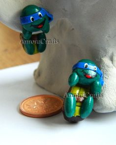 retro TMNT ninja turtles polymer clay earrings