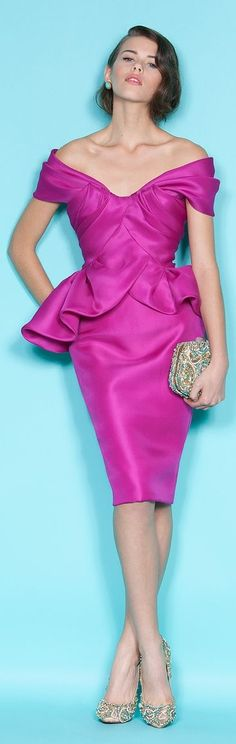 Marchesa / Resort 2012 purple dress @roressclothes closet ideas #women fashion outfit #clothing style apparel