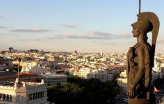 Vistas desde el círculo de bellas artes de Madrid