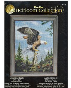 Screaming Eagle Counted Cross Stitch KIT by grammysyarngarden, $22.00