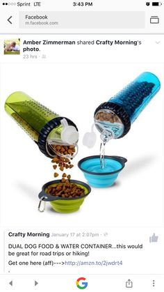 Dual water and snack container