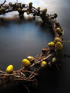 omⒶ KOPPA: Pääsiäis(muna)KRANSSI lehtikuusen oksista