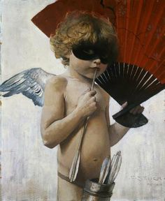 Franz Von Stuck - (February 24, 1863 - August 30, 1928) was a German symbolist/Art Nouveau painter, sculptor, engraver, and architect. Stuck was born at Tettenweis, in Bavaria. From an early age he displayed an affinity for drawing and caricature. To begin his artistic education in 1878 he went to Munich, where he would settle for life. From 1881 to 1885 Stuck attended the Munich Academy.