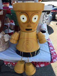 Cp3o Star Wars Characters Pot People www.etsy.com/shop/gardenfriendsnj