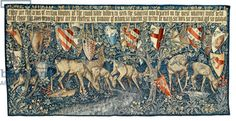 Verdure with Deer and Shields, tapestry designed by the artist and woven by Morris and Co., 1909 (textile)