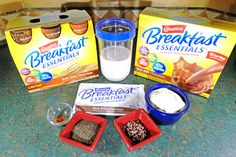 Ingredients for Carnation Breakfast Essentials® #CarnationSweepstakes #BetterBreakfast #CollectiveBias #Ad