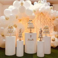 Baptism Decorations, Balloon Decorations, Birthday Party Decorations, Baby Shower Decorations, Birthday Parties, Wedding Decorations, Balloon Ideas, Backdrop Wedding, Birthday Backdrop