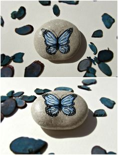 Butterfly decoration desktop gift ideas by TheLuckyStones on Etsy