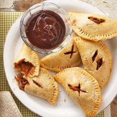 Say goodbye to hot pockets and hello to barbecue pasties! More game-day recipes: www.bhg.com/recipes/party/seasonal/make-and-take-recipes-for-fall/?socsrc=bhgpin111512bbqpasties#page=5