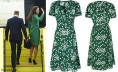 Duchess Kate: Royal Tour 2014 I love the green print dress. I don't like the green coat though.